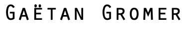 Gaëtan Gromer Logo